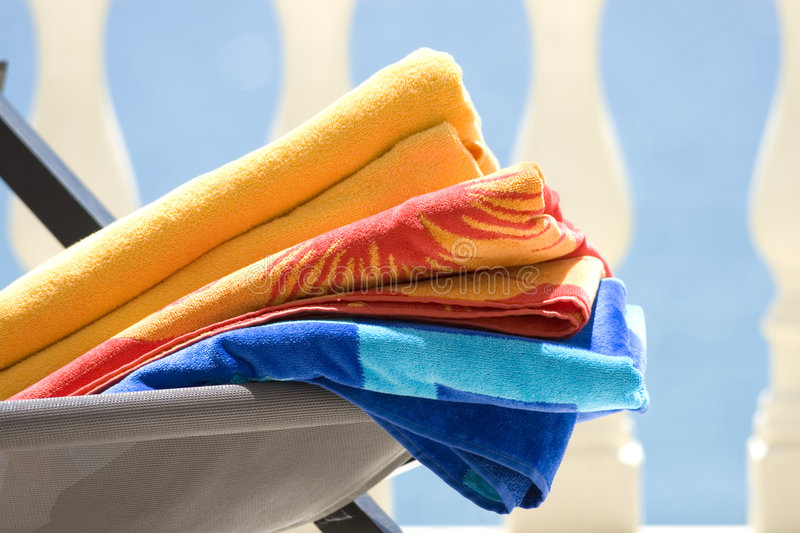 Beach Towels stock photo