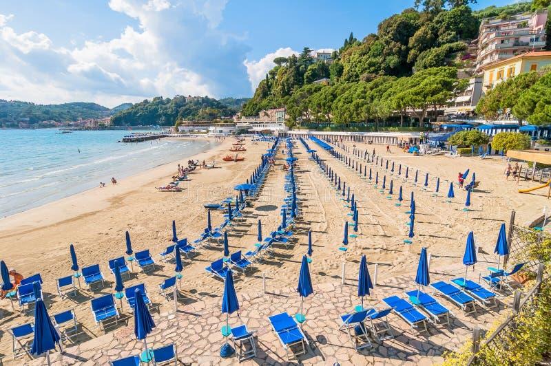 Beach and town of lerici italy editorial image image of for Marletto arredamenti la spezia