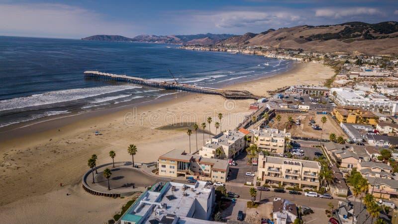 Beach Town stock photo