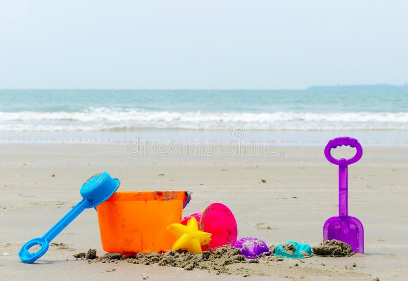 Beach toy holiday and sky in the sanding tool royalty free stock image