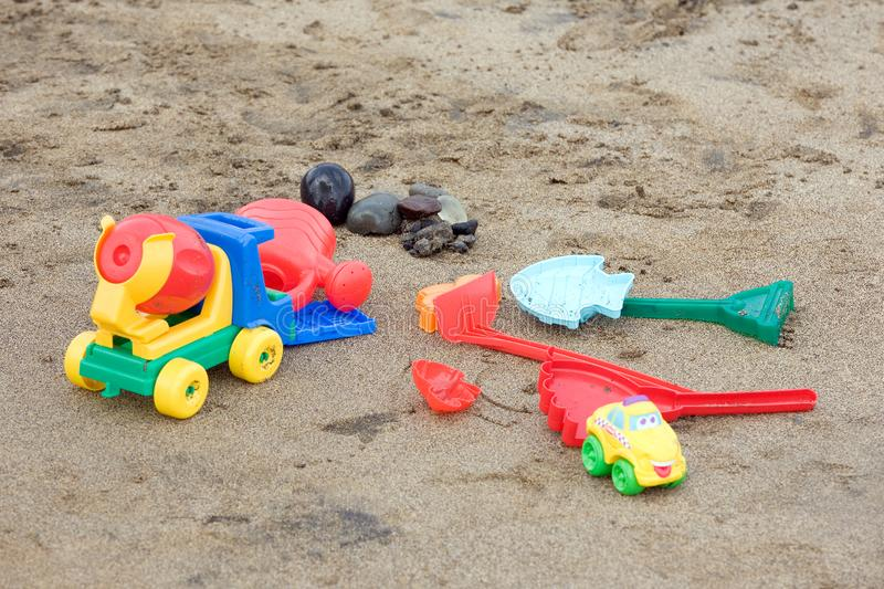 Beach toys stock photography