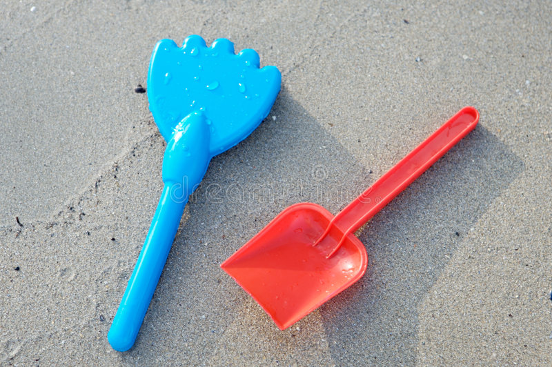 Beach Toys in the sand stock photography