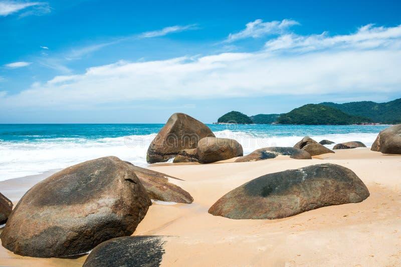 Beach in Trinidade, Rio de Janeiro state. Beach in Trinidade - Paraty, Rio de Janeiro state, Brazil royalty free stock photography