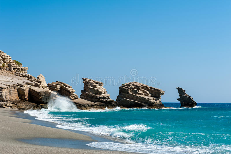 Download Beach Of Trio Petra On Crete Stock Photo - Image: 26524450