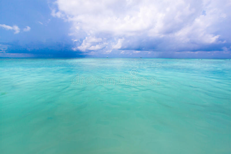 Beach of tropical crystal clear sea, White sand beach, Tachai island, Andaman, Thailand royalty free stock images