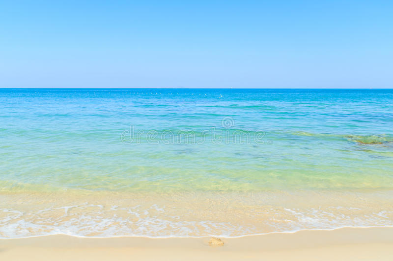 Beach and tropical sea. In Thailand stock photography