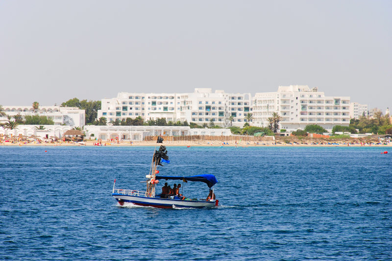 Download Beach in Tunisia stock image. Image of ship, blue, resort - 3284653