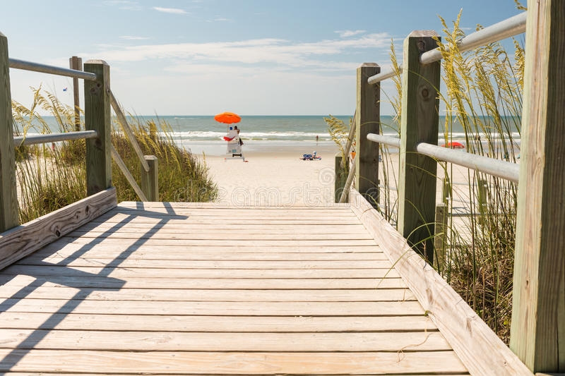 Beach. Typical summer day in Myrtle Beach royalty free stock photos