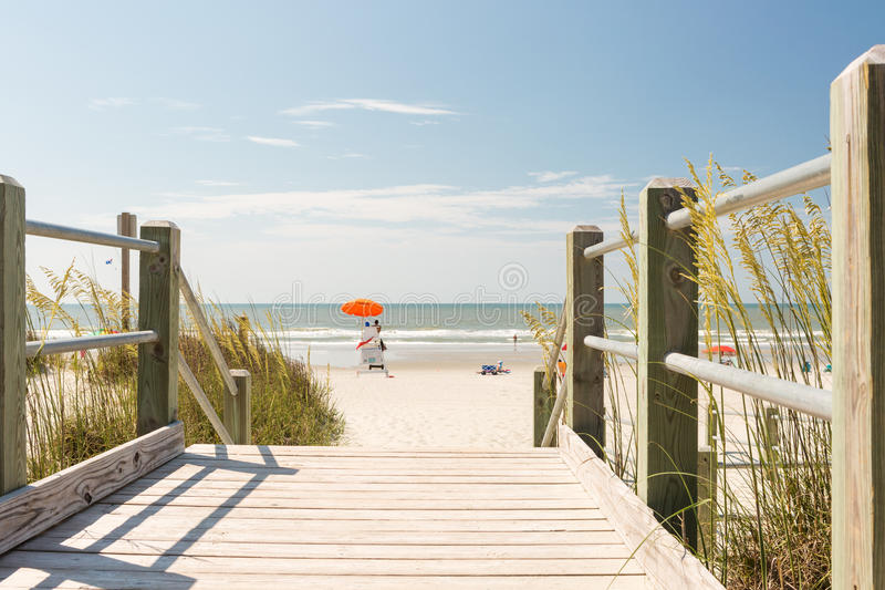 Beach. Typical summer day in Myrtle Beach royalty free stock photography