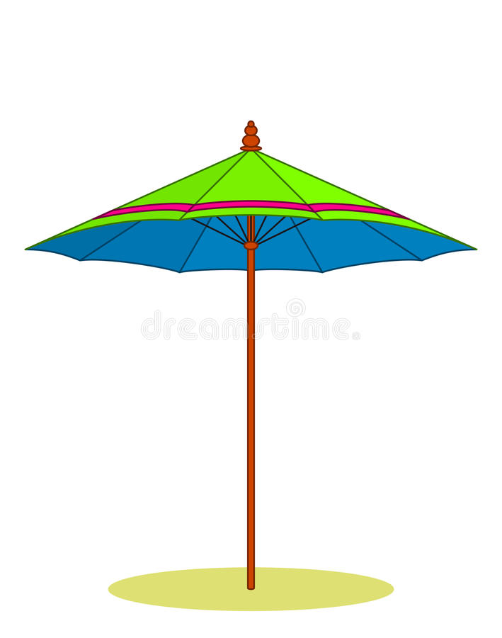 Download Beach umbrella stock vector. Image of nature, sand, isolated - 14584025