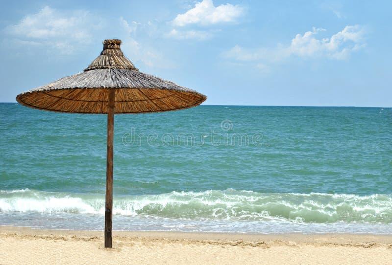Beach umbrella stock photography