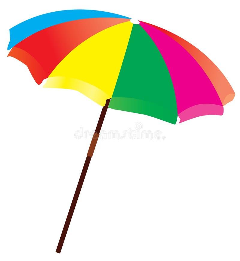 Beach umbrella vector illustration