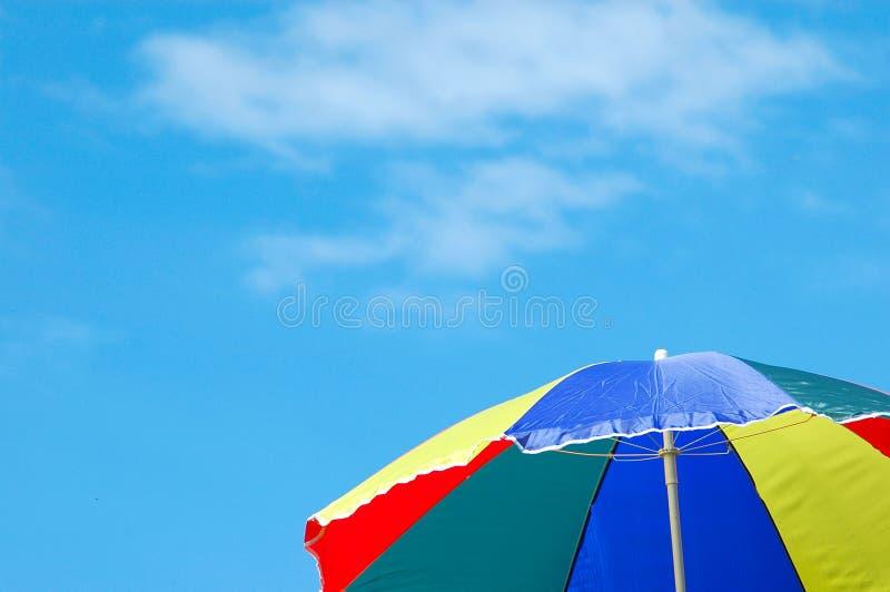 Beach umbrella royalty free stock photos