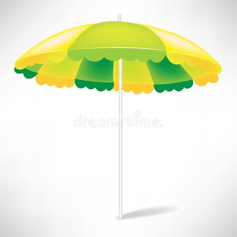 Beach umbrella royalty free illustration