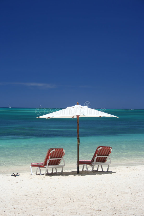 Download Beach umbrella stock photo. Image of caribbean, clear - 3726414