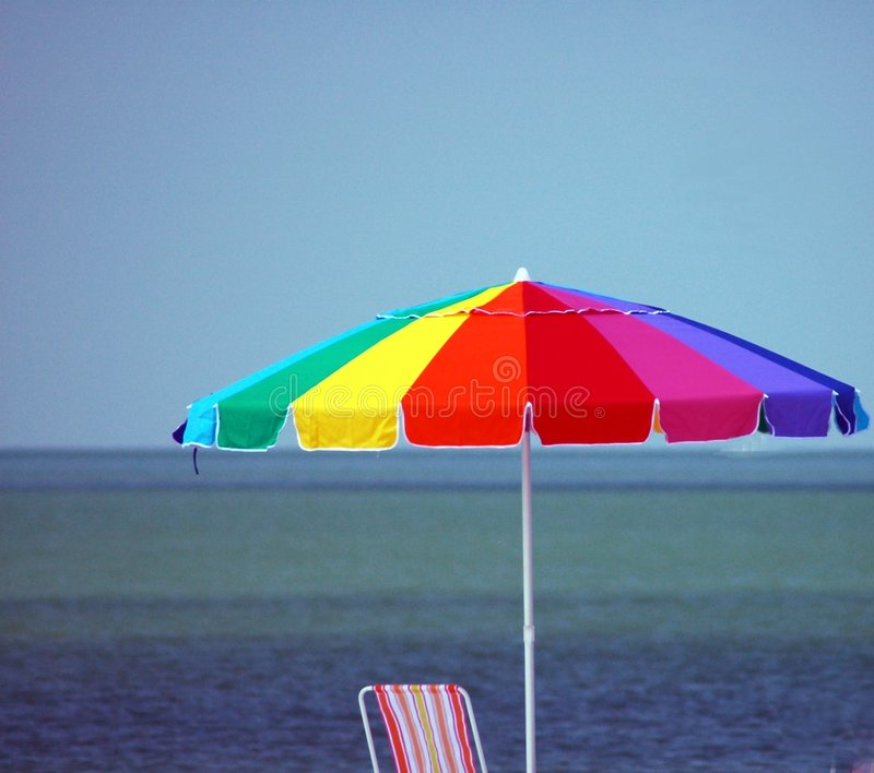 Download Beach Umbrella stock photo. Image of protection, colorful - 878424