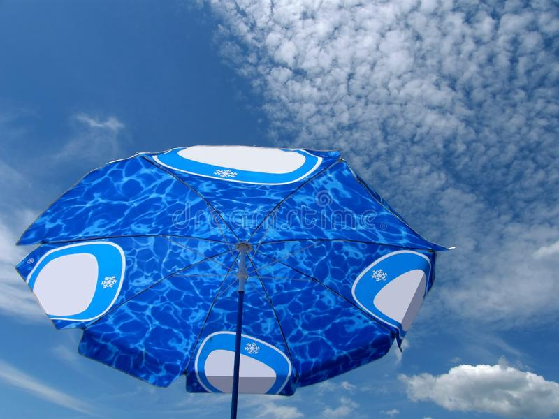 Download Beach umbrella blue sky stock image. Image of beaches - 10301089
