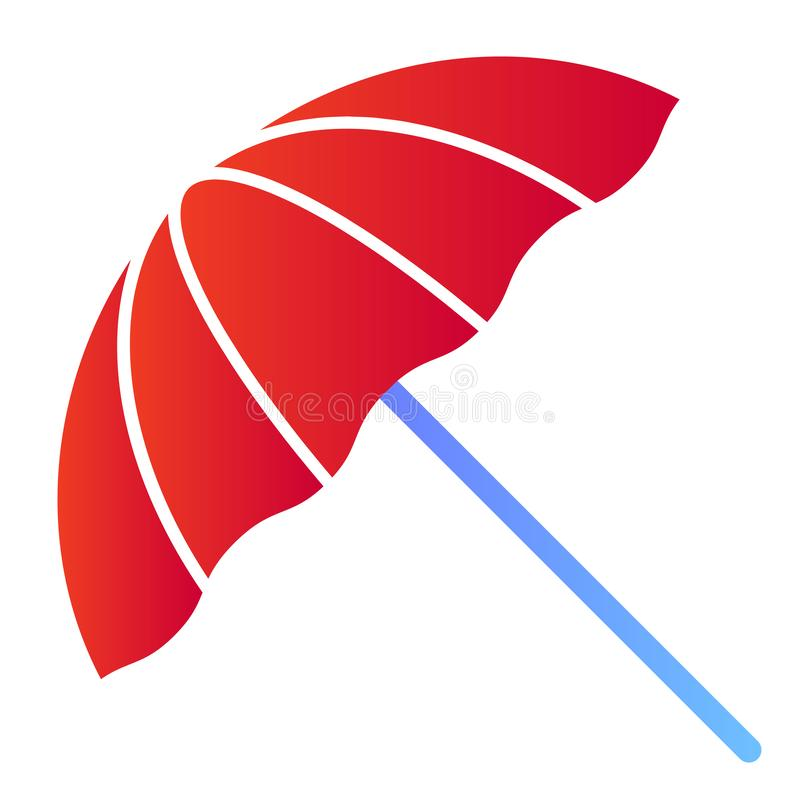 Beach umbrella flat icon. Summer parasol color icons in trendy flat style. Recreation gradient style design, designed. For web and app. Eps 10 vector illustration
