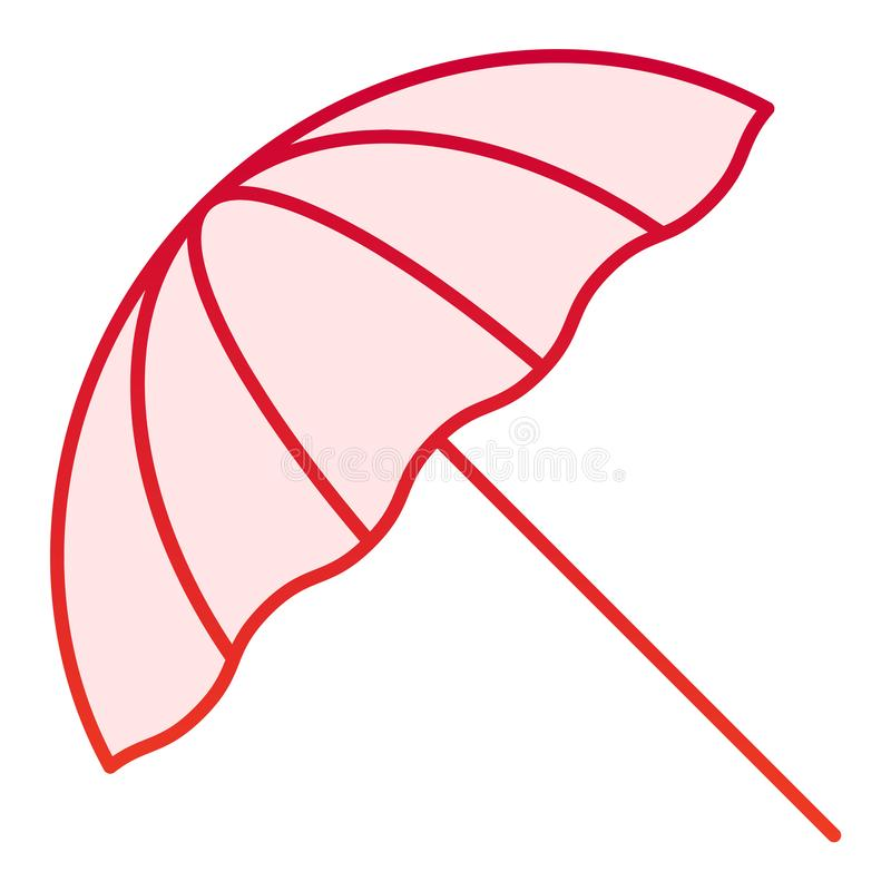 Beach umbrella flat icon. Summer parasol red icons in trendy flat style. Recreation gradient style design, designed for. Web and app. Eps 10 stock illustration
