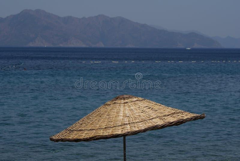 Beach umbrella parasol stock photography
