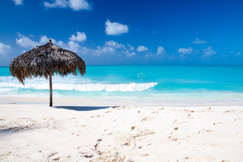 Download Beach Umbrella On A Perfect White Beach In Front Of Sea Stock Image - Image: 31587315