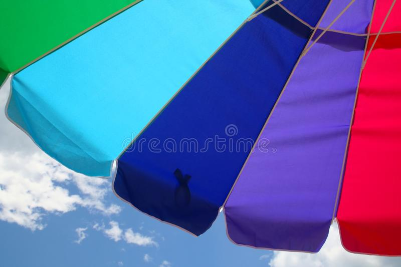 Beach Umbrella and Sky stock photography
