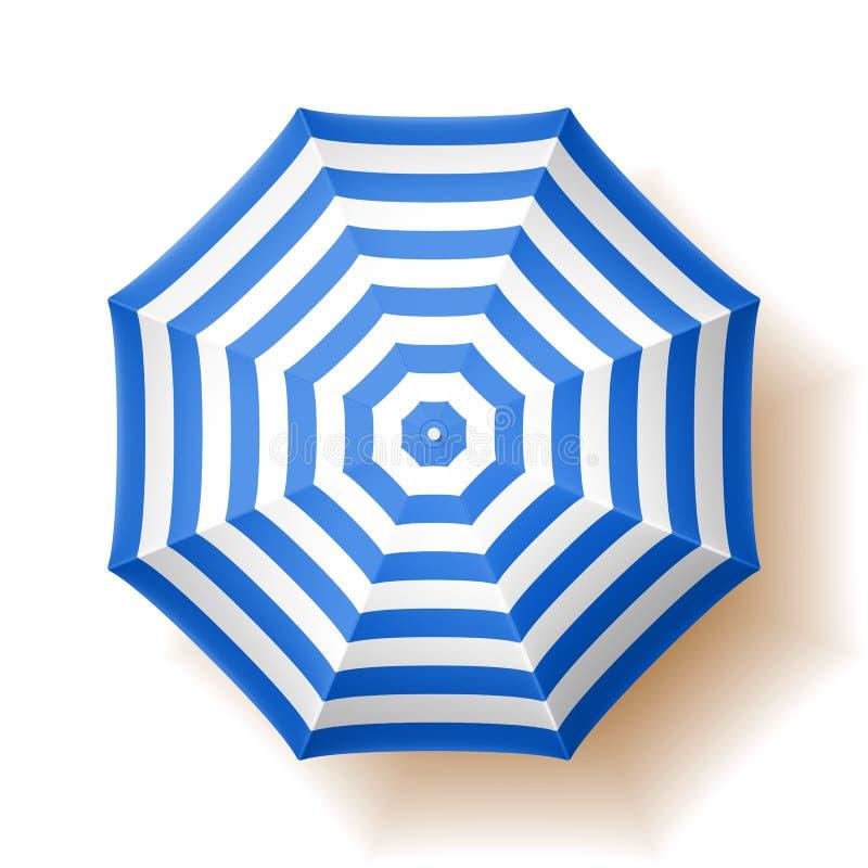 Beach umbrella, top view royalty free illustration