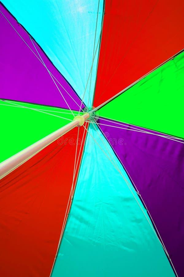 Beach Umbrella undersurface colourful. Trip tropical beah holidays theme wallpaper. Beach Umbrella under surface colourful. Trip tropical beah holidays theme stock photo