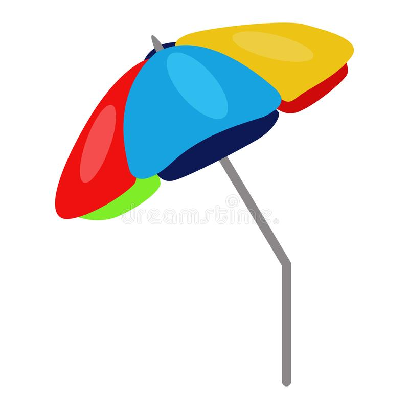 Beach umbrella vector icon on a white background. Parasol illustration isolated on white. Sun protection realistic style vector illustration