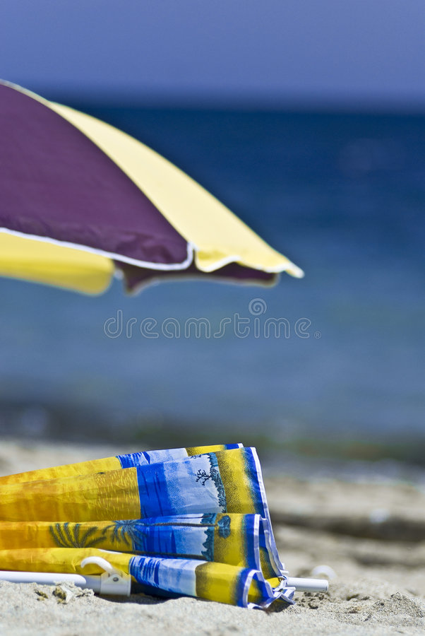 Download Beach umbrellas stock photo. Image of coloured, oceanfront - 2902762