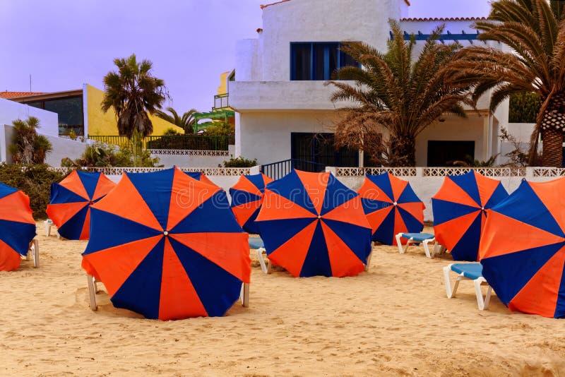 Beach Umbrellas stock photography