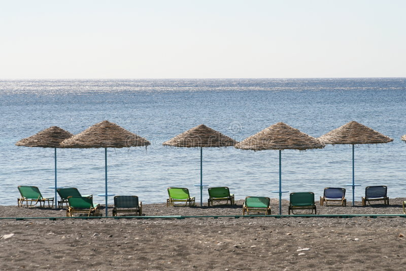 Download Beach Umbrellas In A Row Stock Photo - Image: 2192630