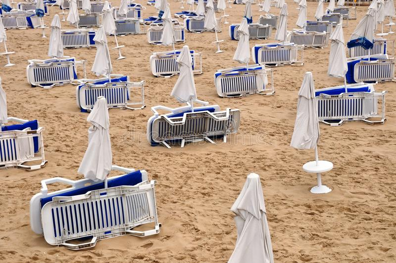 Download Beach umbrellas in rows stock image. Image of side, deck - 10859697