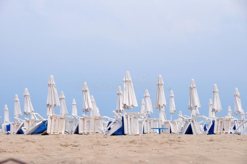 Download Beach umbrellas in rows stock image. Image of sand, view - 10859743