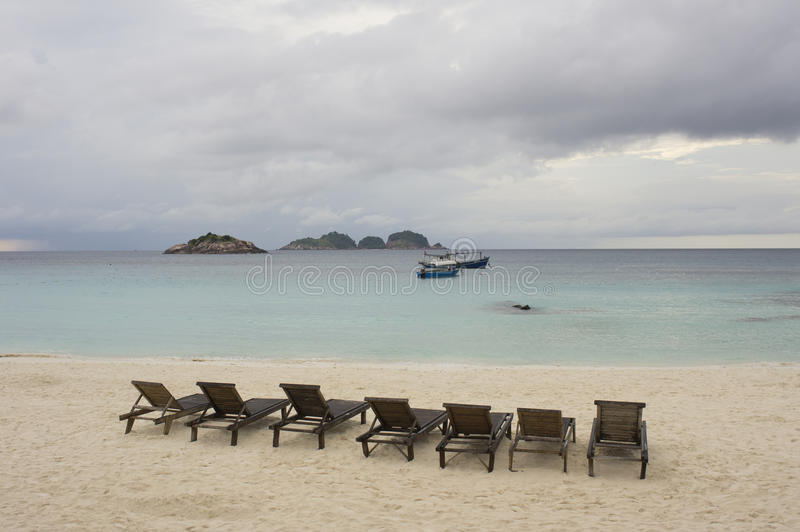 Download Beach under cloudy sky stock image. Image of tranquil - 21158625