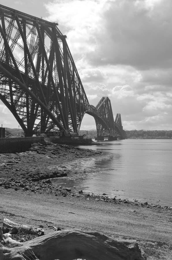 Beach Under Rail Bridge royalty free stock images