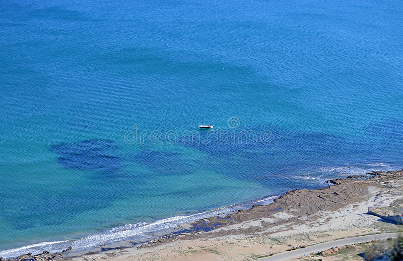 Beach With Underwater Reef royalty free stock photo