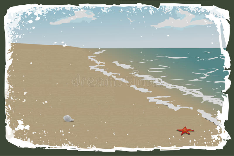 Beach vector royalty free illustration