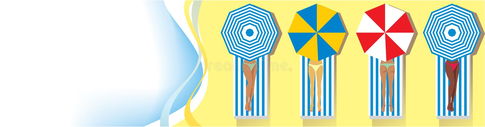 Download On the beach: Vector frame stock vector. Illustration of parasol - 15847225