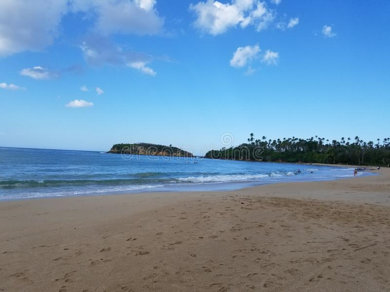 The Beach Vega Baja PR. This is a photo of a great beach in Vega Baja Puerto Rico. It was a very nice day at the beach stock photo