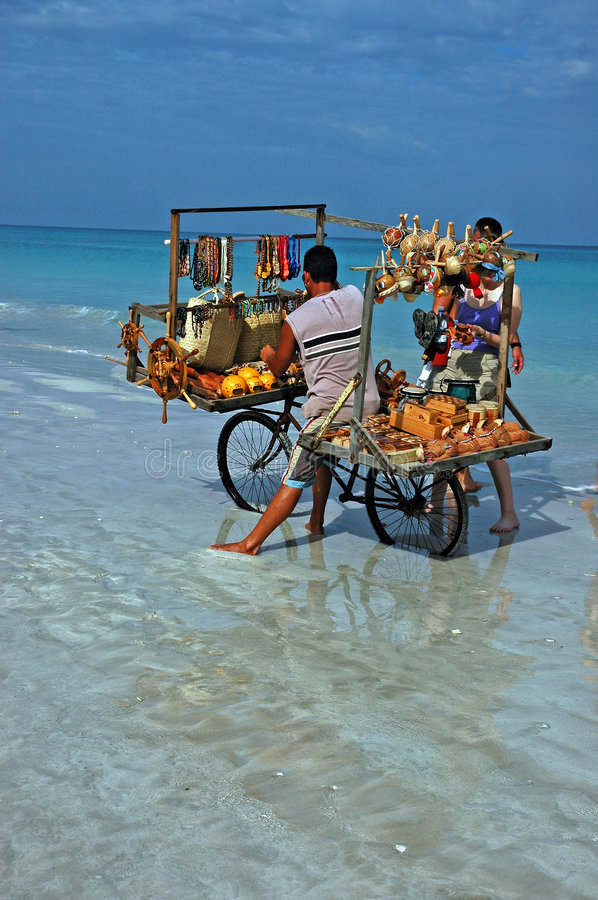 Beach Vendor stock photo