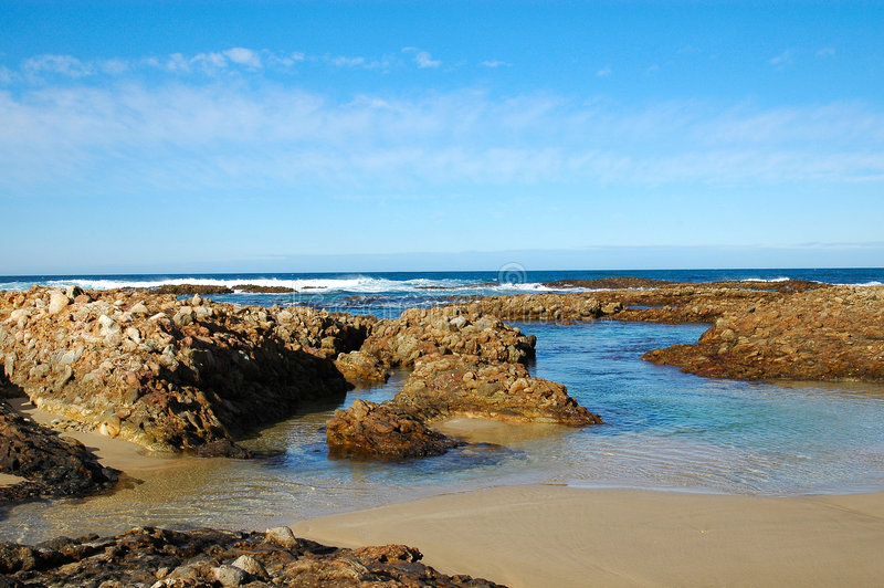 Beach View. South African landscape by the sea: Beach View Indian Ocean South Africa, Nelson Mandela Bay, Port Elizabeth stock photos