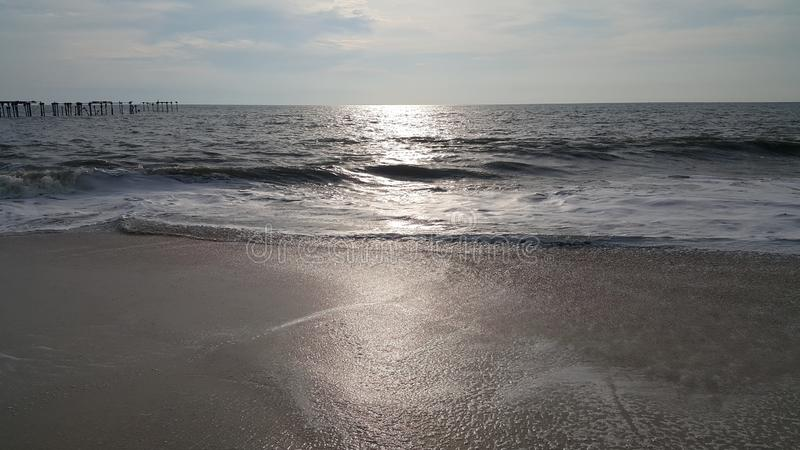 Beach View in Evening Time - Kerala. God`s own Country Kerala Alappuzha Beach in Evening Time Photography stock photos