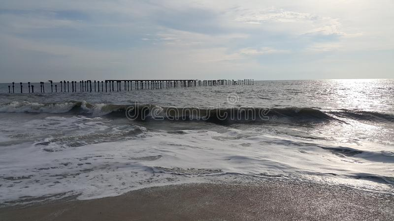 Beach View in Evening Time - Kerala. God`s own Country Kerala Alappuzha Beach in Evening Time Photography stock image