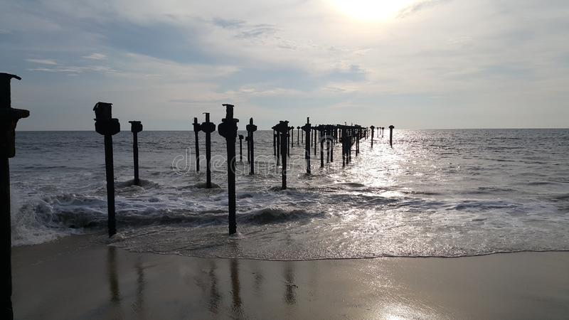 Beach View in Evening Time - Kerala. God`s own Country Kerala Alappuzha Beach in Evening Time Photography stock photo