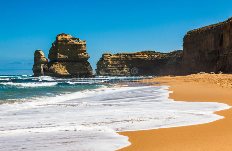 Beach view at Gibson Steps near Twelve Apostles by Great Ocean. Rd, VC, Australia stock photo