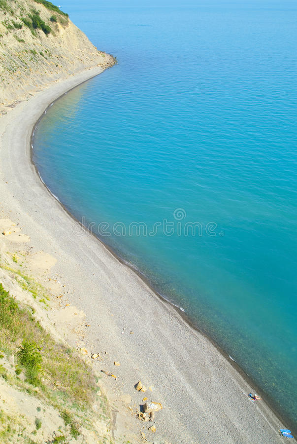 Download Beach view from hill stock photo. Image of mountain, high - 25960656