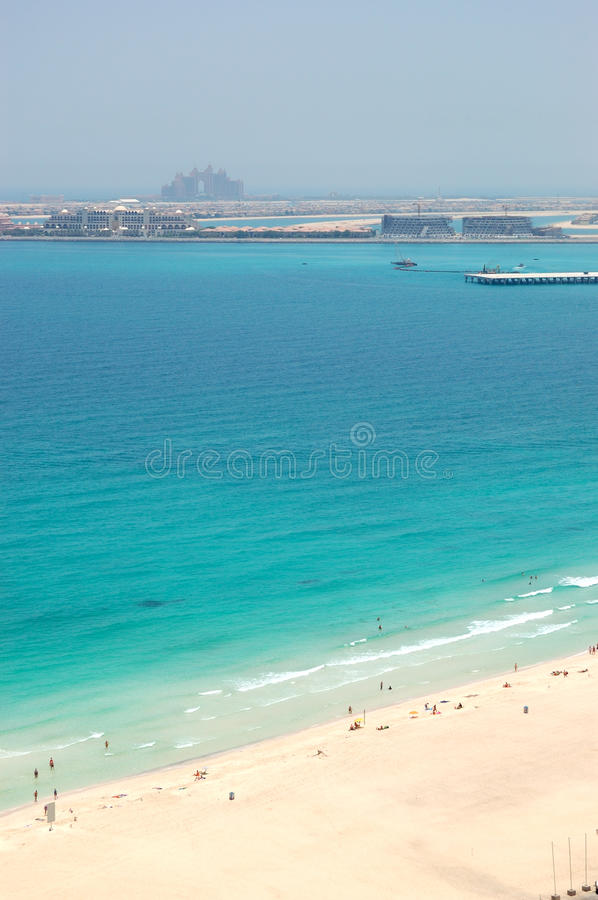 Download Beach With A View On Jumeirah Palm Man-made Island Stock Image - Image of beautiful, luxurious: 29140759