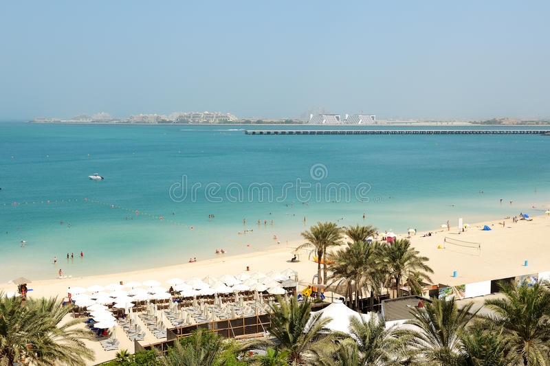 Download Beach With A View On Jumeirah Palm Man-made Island Stock Image - Image: 34195099