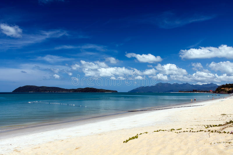 Beach view at Langkawi island stock images